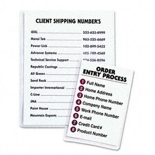 Self-Adhesive Shop Ticket Holders, 9 X 12, 50/Box