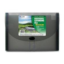 Biodegradable Expanding File,7-Pocket,6-Tab,Letter,Smoke