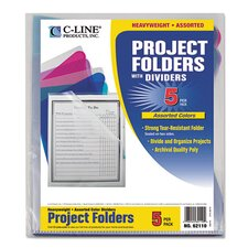 Project Folder with Dividers (Set of 10)