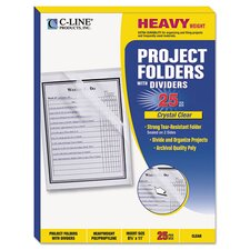 Project Folder with Dividers (Set of 25)