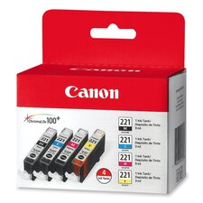 Ink Cartridge, 4/PK, Color