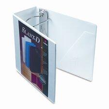Clearvue Premium Slant-D Vinyl Presentation Binder, 5in Capacity, White