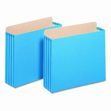 "3 1/2"" Expansion File Cabinet Pockets, Straight, Letter, Blue (Set of 10)"
