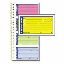 200 Forms Adams Wirebound Telephone Message Book