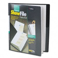 Showfile Display Book with Custom Cover Pocket, 12 Letter-Size Sleeves