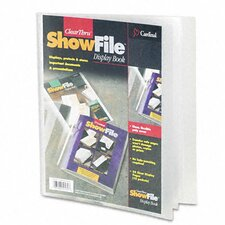 Clearthru Showfile Presentation Book, 12 Letter-Size Sleeves (Set of 2)