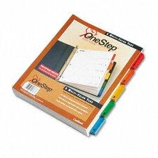 Quickstep Onestep Bulk Index System, Title: 1-5, Letter (24 Sets/Box)
