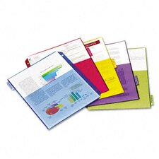 Poly 2-Pocket Index Dividers, 5-Tabs/Set, 4 Sets/Pack