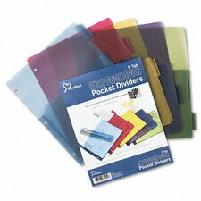 Poly Expanding Pocket Index Dividers, 5-Tab, Letter (Set of 2)