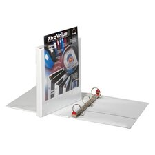"Clearvue Locking D-Ring Binder, 11""x8-1/2"", White, 1""-5"" Capacity"