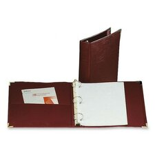 "Binder, 3 Ring, Vinyl, 1-1/2"" Capacity, 11""x8-1/2"", Burgundy"