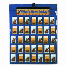 Attendance/Multiuse Pocket and 35 Pockets/Two-Sided Cards Chart