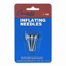 Nickel-Plated Inflating Needles for Electric Inflating Pump, 3 Needles/Pack (Set of 5)