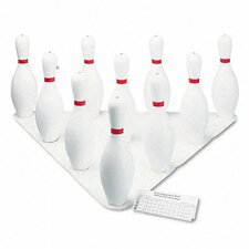 Bowling Set, Plastic/Rubber, 1 Ball/10 Pins/Set
