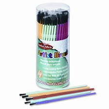 Creative Arts Classroom Brush Assortment, Synthetic, Round, 144/Pack