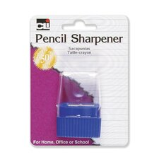 Pencil Sharpener, w/ Cone Receptacle, Assorted