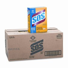 S.O.S Steel Wool Soap Pad, 15 Pads/box, 12 Boxes/carton