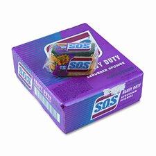 S.O.S Heavy-Duty Scrubber Sponge, 3 x 5-1/4, 1 Thick, 3 Sponges/pack