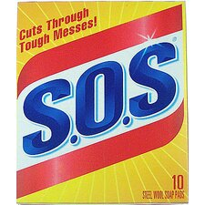 S.O.S Steel Wool Soap Pad (Set of 10)