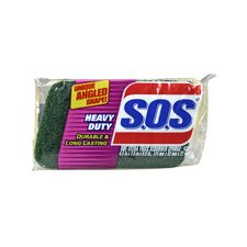 """S.O.S. 9"""" H x 2.5"""" W Heavy Duty Scrubber Sponge (Set of 12)"""