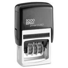 2000 Plus Economy Self-Inking Dater Stamp in Black / Red