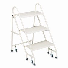 Folding 3-Step Steel Step Stool with 300 lb. Load Capacity