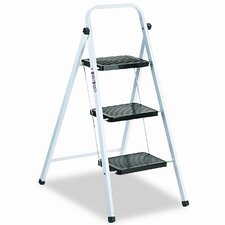 Louisville 3-Step Steel Folding Step Stool with 200 lb. Load Capacity