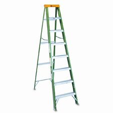 8 ft Fiberglass Step Ladder with 225 lb. Load Capacity
