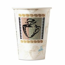 Coffee Dreams Design Perfectouch Paper Hot Cups, 8 Oz., 50/Pack