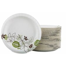 "Paper Plates, 8-1/2"" Diameter, Green/Burdundy, 125 Plates (Set of 4)"