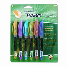 Ticonderoga Emphasis Pocket Style Highlighter, Chisel Tip (Set of 18)