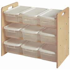 Nine Bin Toy Organizer 9 Compartment Cubby