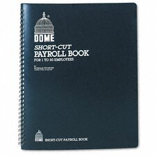 Payroll Record, Single Entry System, Blue Vinyl Cover, 8-3/4 x11-1/4 Pages, 2012