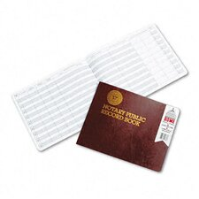 Notary Public Record, Burgundy Cover, 60 Pages, 8-1/2 x 10-1/2, 2012