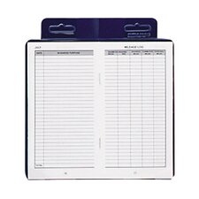 """Deluxe Automobile Mileage Log Book, 3-1/4""""x6-1/4"""", Blue (Set of 3)"""
