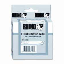 "Rhino Flexible Nylon Industrial Label Tape Cassette, 0.5"" x 11.5'"