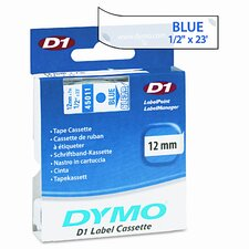 """D1 Standard Tape Cartridge for Label Makers, 0.5"""" x 23'"""