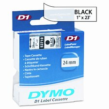 """D1 Standard Tape Cartridge for Label Makers, 1"""" x 23'"""