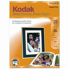 High-Gloss Ultra Premium Photo Paper, 25 Sheets/Pack