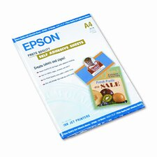 S041106 Photo-Quality Self-Adhesive Inkjet Paper, White, A4 (8-3/8 x 11-3/4), 10 Sheets