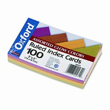 Oxford Ruled Index Cards, 3 X 5, 100/Pack (Set of 3)