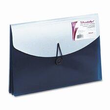Four-Pocket Slide File Wallet, Letter, Polypropylene