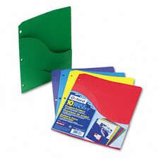 Slash Pocket Project Folders, Jacket, Letter, 10/Pack