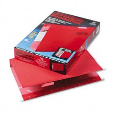 "Reinforced 2"" Extra Capacity Hanging File Folders, Legal, 25/Box"