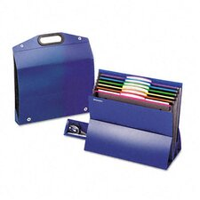 "Two"" Expansion Desktop File, Six Pockets, Poly, Letter"