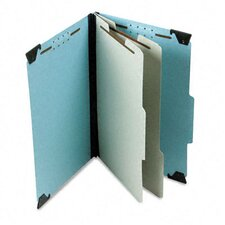 Pressboard Hanging Classification Folder with Dividers, Six-Section, Legal