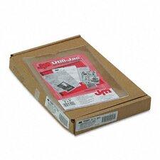 Oxford Utili-Jacs Heavy-Duty Clear Plastic Envelopes, 6 X 9, 50/Box