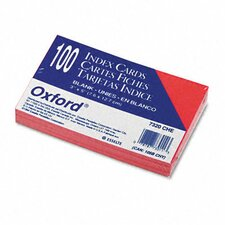 Oxford Unruled Index Cards, 3 X 5, 100/Pack (Set of 4)