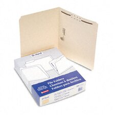 Manila One-Fastener Classification Folders with Straight Tabs, Letter, 50/Box