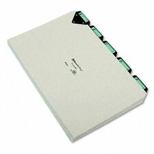 Steel Top Tab Recycled Guides, Alpha, 1/5 Tab, Pressboard, Legal (Set of 25)